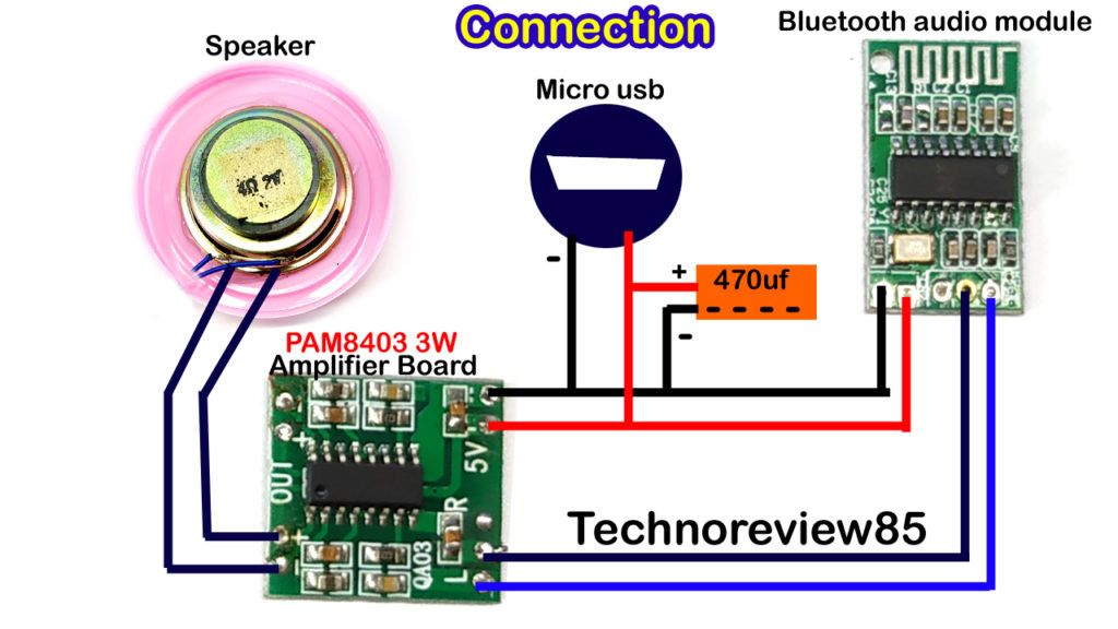 How to make a very easy Bluetooth speaker at hometechno review 85