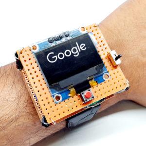 how to make a smartwatch using arduino