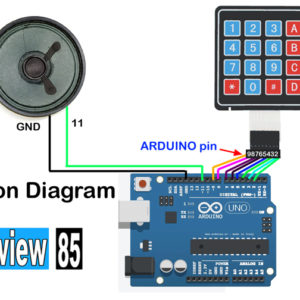 mini piano using arduino uno & key board matrix
