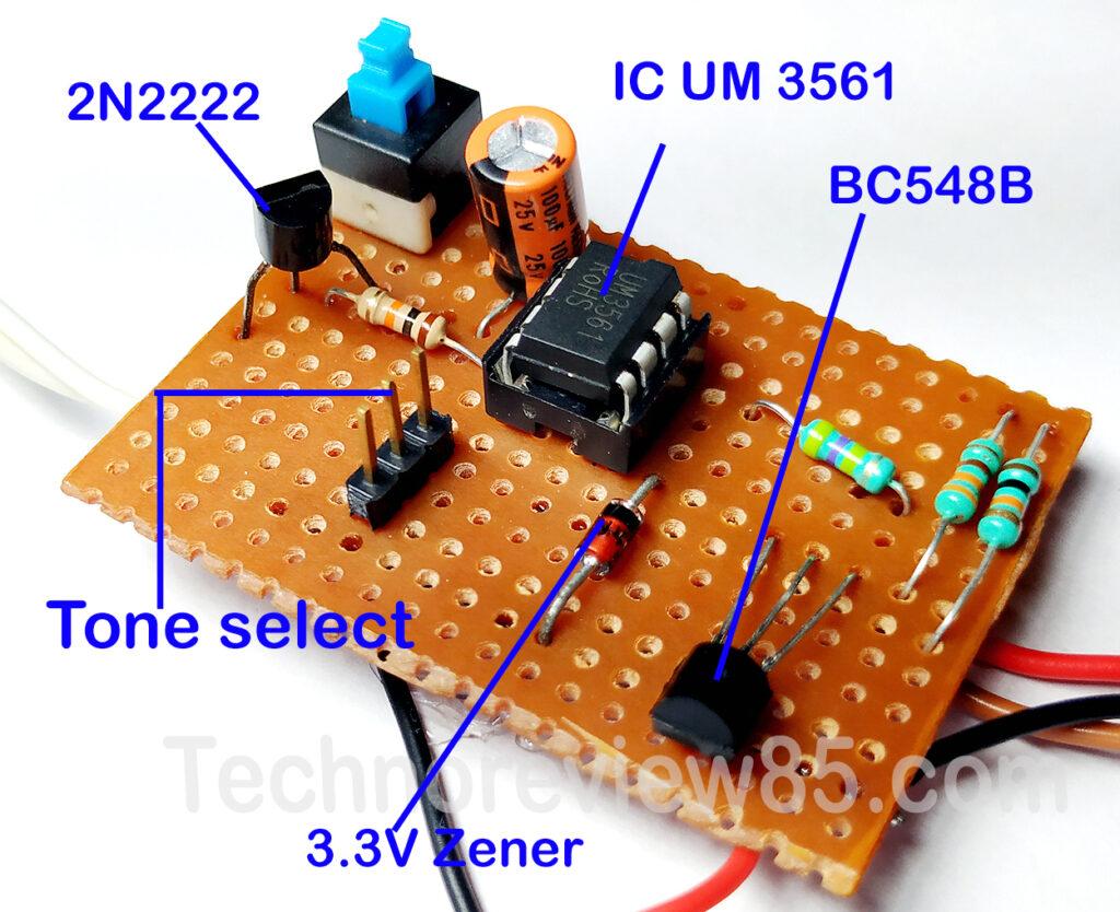 Electronic burglar alarm or home security circuit