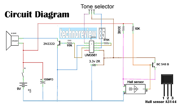 electronic security system circuit