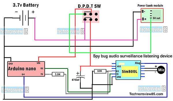 audio bug surveillance device