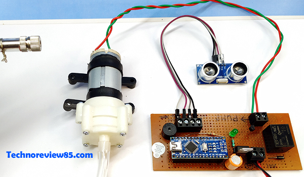 automatic sanitizer dispenser circuit
