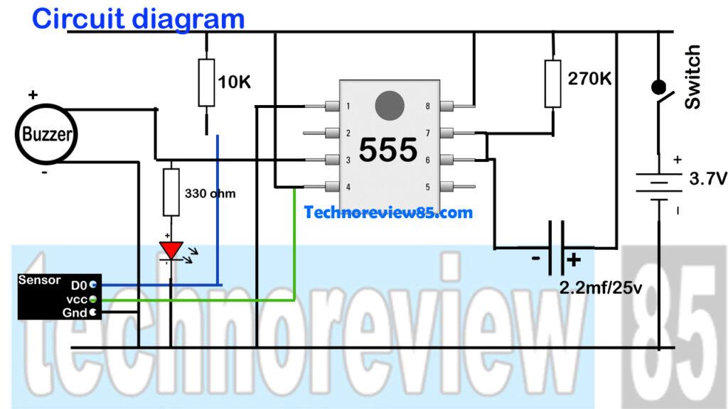 Bicycle alarm circuit