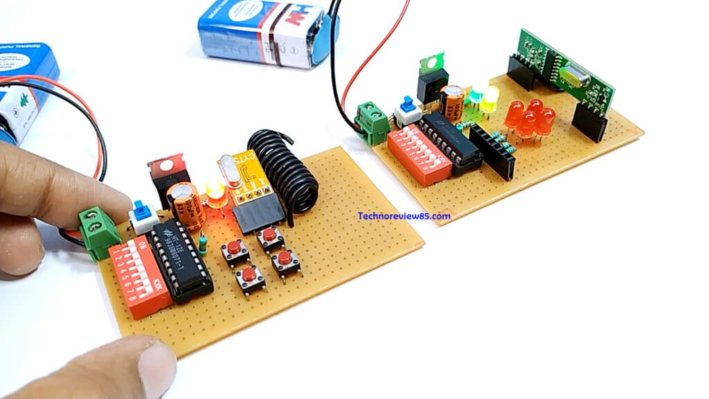 433mhz radio-controlled remote circuit