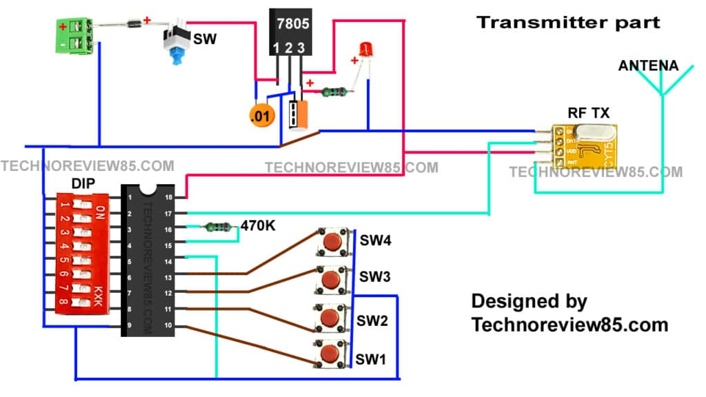 radio-controlled remote circuit