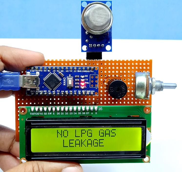 lpg gas leakage detector using arduino