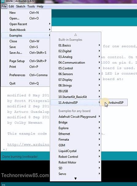 Arduino as ISP