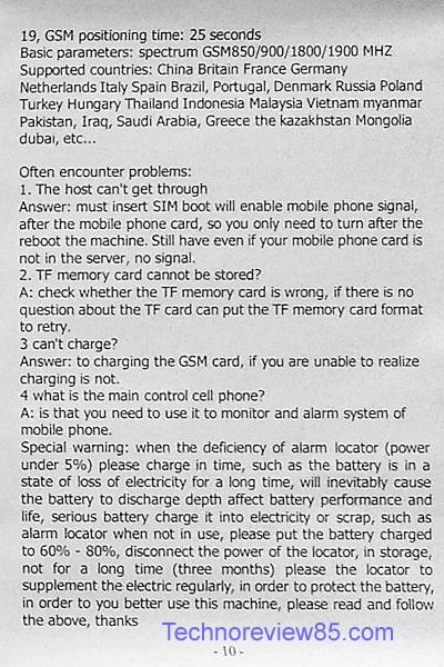 GF07 Gps tracker user manual