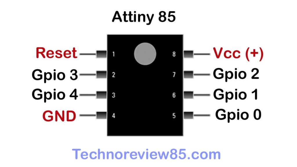 Attiny 85 pinout